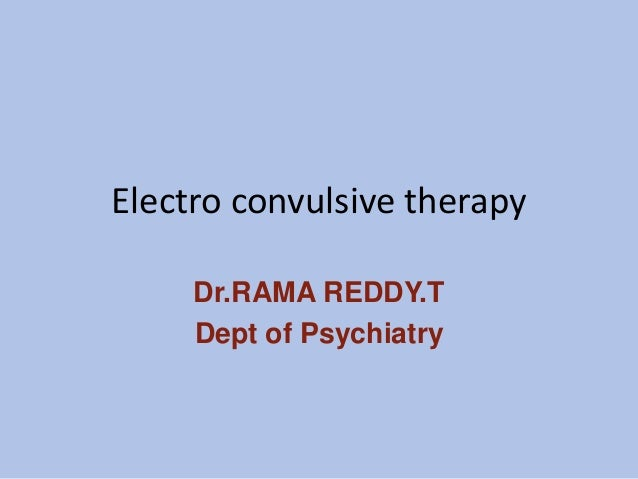 conclusion of electroconvulsive therapy